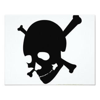 Jolly Roger #3-Black 11 Cm X 14 Cm Invitation Card