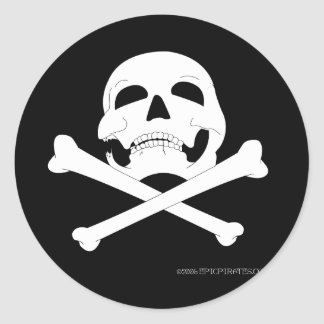 Jolly Roger 4 Round Stickers