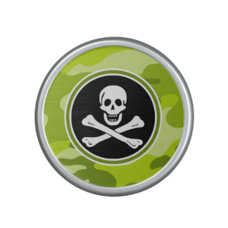 Jolly Roger; bright green camo, camouflage Speaker