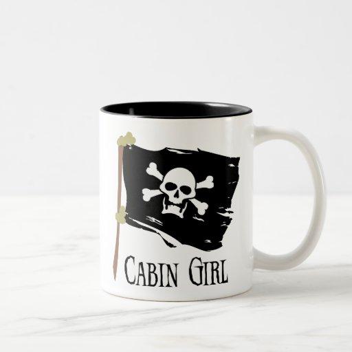 Jolly Roger Cabin Girl Mugs