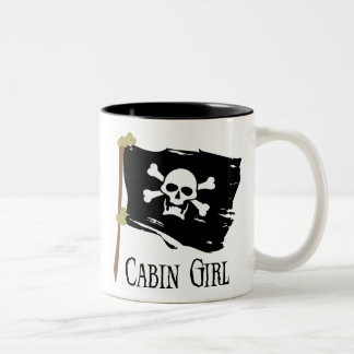Jolly Roger Cabin Girl Two-Tone Coffee Mug