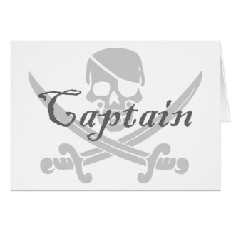 Jolly Roger Captain Greeting Cards