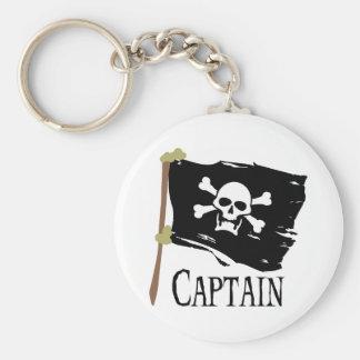 Jolly Roger Captain Keychain