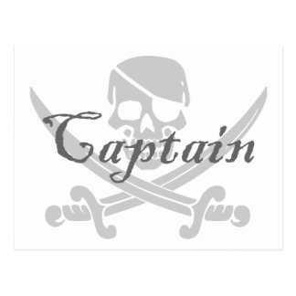 Jolly Roger Captain Post Cards