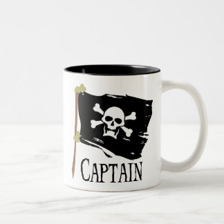Jolly Roger Captain Two-Tone Mug
