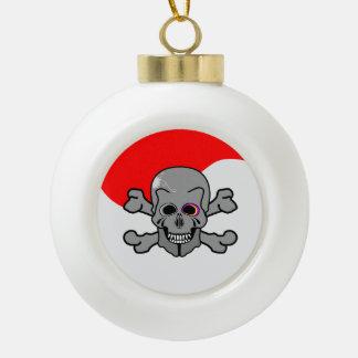 Jolly Roger Ceramic Ball Decoration