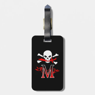 Jolly Roger M Monogram Initial Luggage Tag