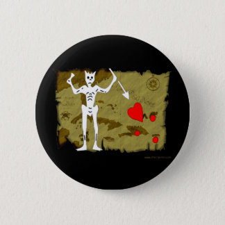 Jolly Roger Map  #1 6 Cm Round Badge