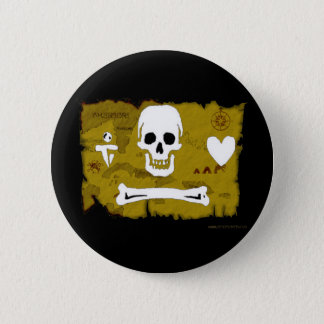 Jolly Roger Map #2 6 Cm Round Badge