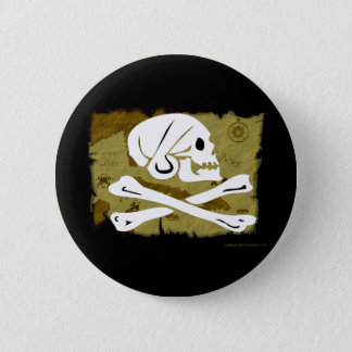 Jolly Roger Map #4 6 Cm Round Badge