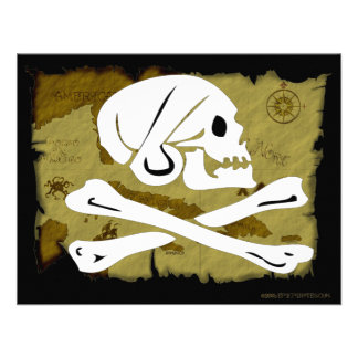 Jolly Roger Map 4 Personalized Invitation