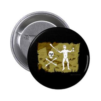 Jolly Roger Map # 5 6 Cm Round Badge
