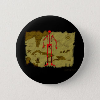 Jolly Roger Map #6 6 Cm Round Badge