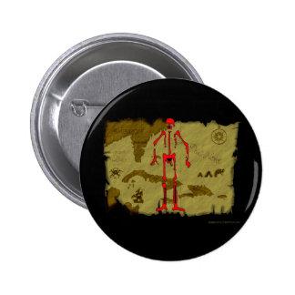 Jolly Roger Map #6 6 Cm Round Badge