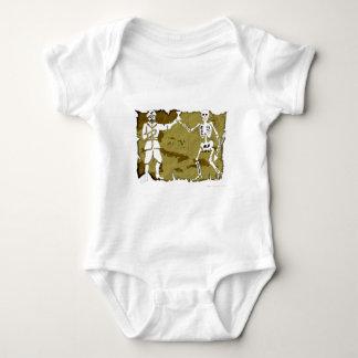 Jolly Roger Map  #8 Baby Bodysuit