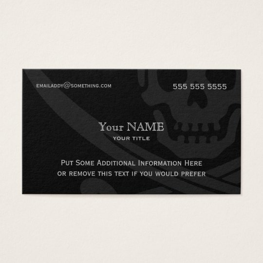 Jolly Roger Modern Business Card