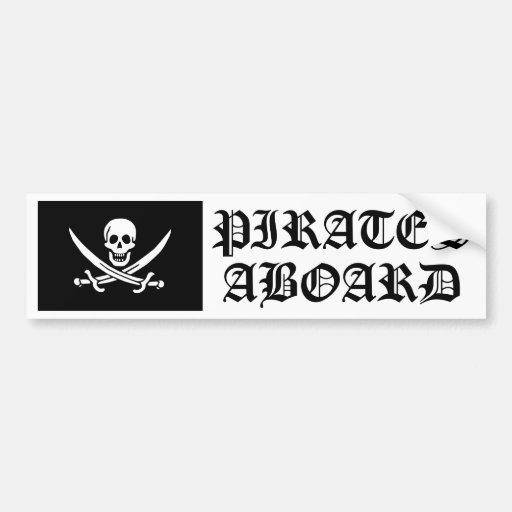 Jolly Roger of Calico Jack Rackham (BLACK) Bumper Stickers