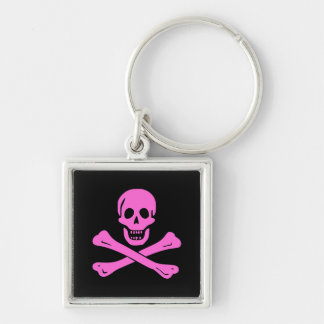 Jolly Roger Pink Key Ring