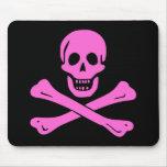 Jolly Roger Pink Mousepads
