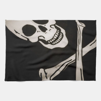 """Jolly Roger Pirate Cloth Flag 16"""" x 24"""" Towels"""