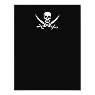 Jolly roger pirate flag 11 cm x 14 cm invitation card