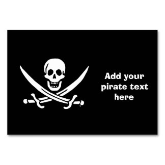 Jolly roger pirate flag card