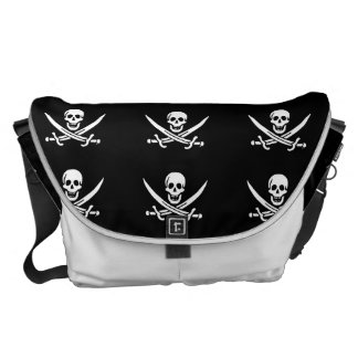 Jolly roger pirate flag courier bag