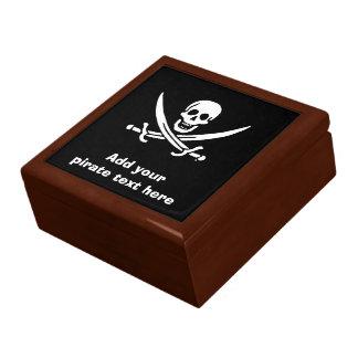 Jolly roger pirate flag gift box