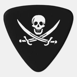 Jolly roger pirate flag guitar pick