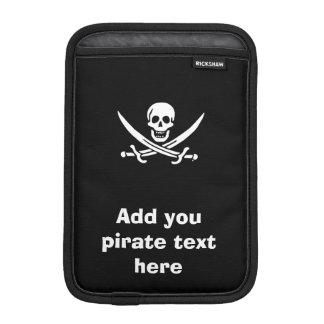Jolly roger pirate flag iPad mini sleeve