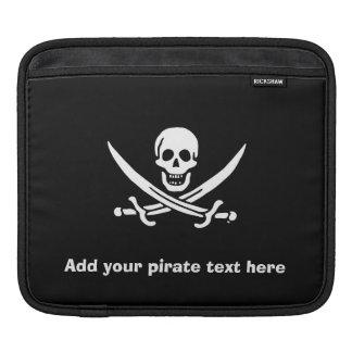 Jolly roger pirate flag iPad sleeve
