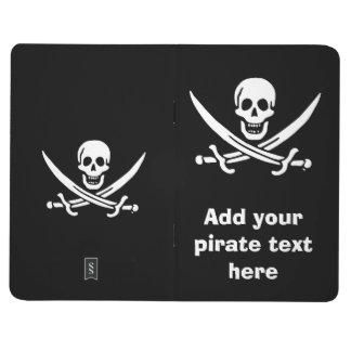 Jolly roger pirate flag journal