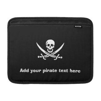 Jolly roger pirate flag MacBook sleeve