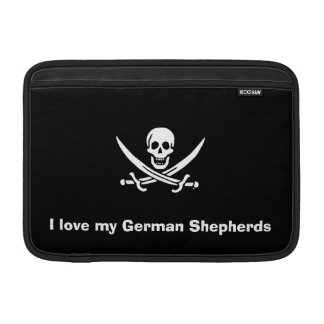 Jolly roger pirate flag MacBook sleeve