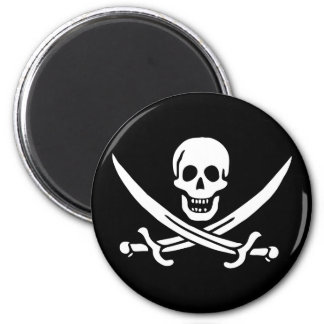 Jolly Roger Pirate Flag Magnet
