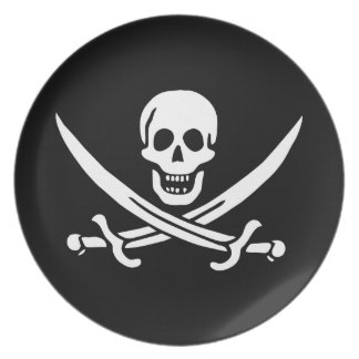 Jolly Roger Pirate Flag Plate