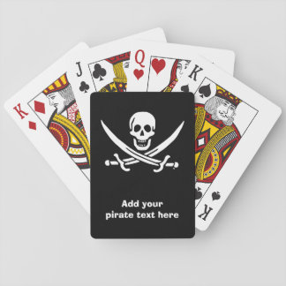 Jolly roger pirate flag playing cards