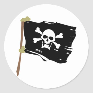 Jolly Roger Pirate Flag Round Sticker