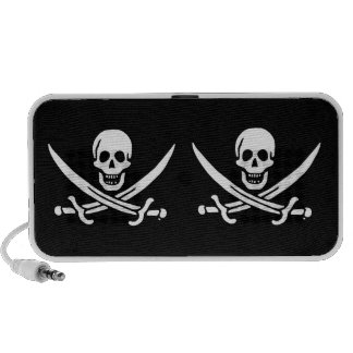 Jolly roger pirate flag travelling speakers