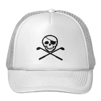 Jolly Roger Pirate Golfer Cap