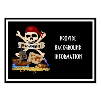 Jolly Roger, Pirate Ship & Pirate's Chest Pack Of Chubby Business Cards