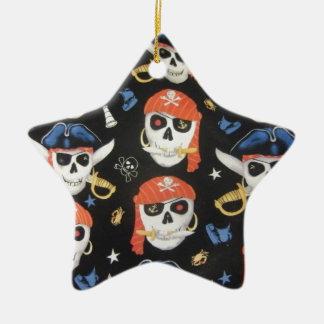 Jolly Roger Pirate Skulls Ceramic Star Decoration