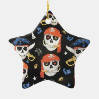 Jolly Roger Pirate Skulls Christmas Ornament