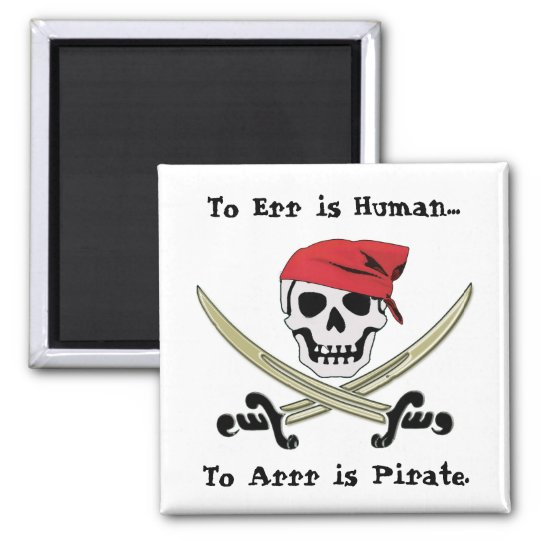 Jolly Roger Pirate Talk Magnet