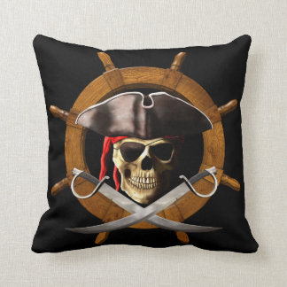 Jolly Roger Pirate Wheel Cushion