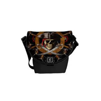 Jolly Roger Pirate Wheel Messenger Bags