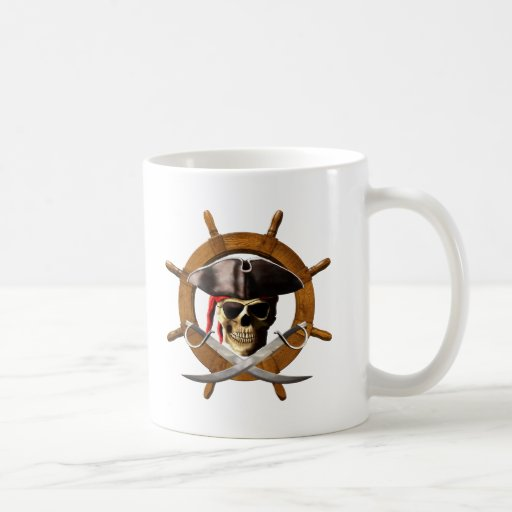 Jolly Roger Pirate Wheel Mugs