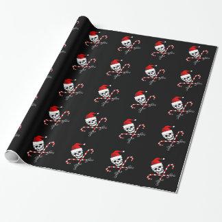 Jolly Roger Santa Wrapping Paper