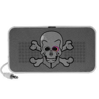 Jolly Roger skull and cross bones Travel Speakers