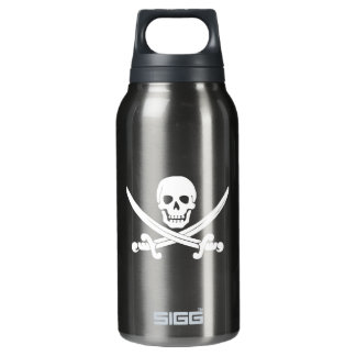 Jolly Roger Skull And Crossbones Pirate Insulated Water Bottle